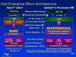 intel enterprise micro architectures