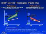 intel server processor platforms