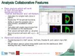 analysis collaborative features