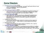 some directors
