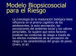 modelo biopsicosocial para el riesgo