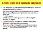 cnot gate and machine language