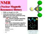nmr nuclear magnetic resonance history