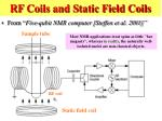 rf coils and static field coils