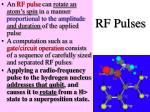 rf pulses