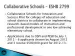 collaborative schools eshb 2799