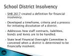 school district insolvency