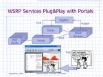 wsrp services plug play with portals