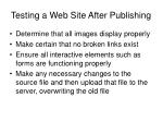 testing a web site after publishing