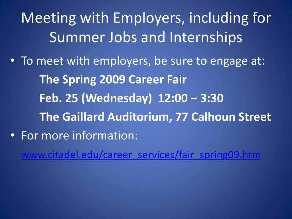 Meeting with Employers, including for