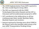 apec tpt wg outcome