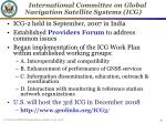 international committee on global navigation satellite systems icg1