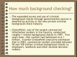 how much background checking2