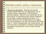 possible public policy responses