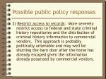 possible public policy responses1