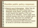possible public policy responses2