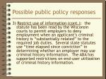 possible public policy responses3