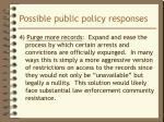 possible public policy responses4