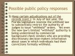 possible public policy responses7