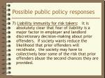 possible public policy responses9