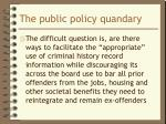the public policy quandary1