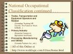 national occupational classification continued20
