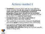 actions needed ii