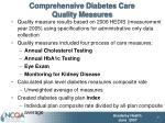 comprehensive diabetes care quality measures