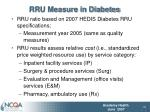 rru measure in diabetes