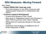 rru measures moving forward