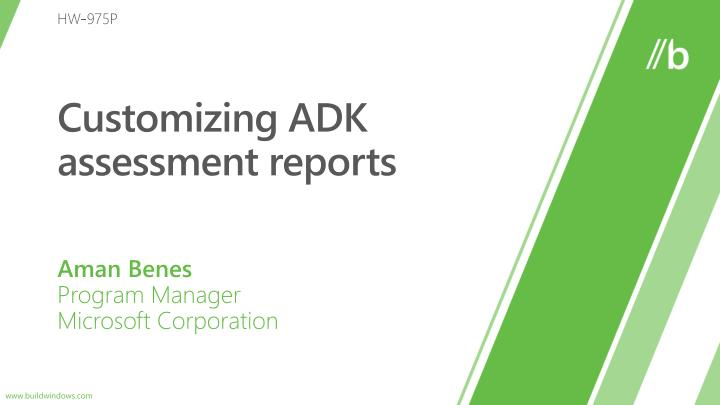 customizing adk assessment reports n.