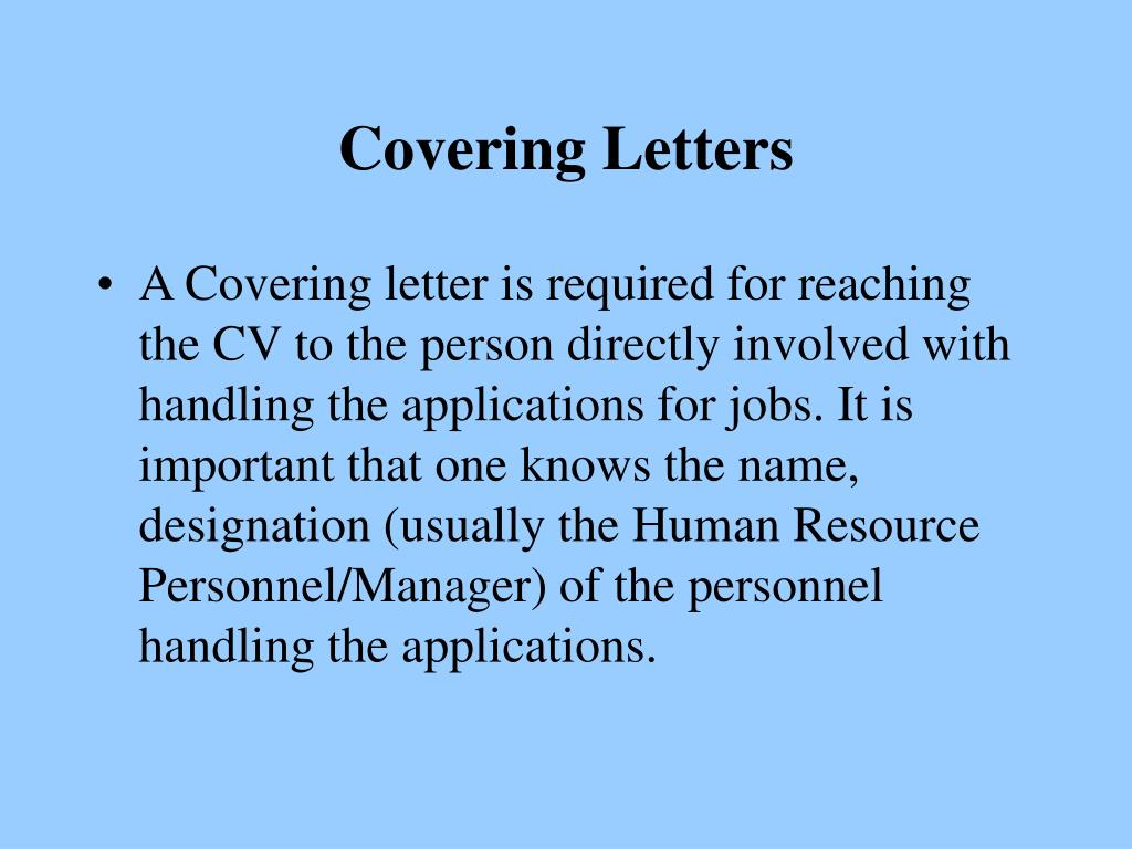 Covering Letters