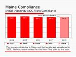 maine compliance initial indemnity noc filing compliance