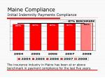 maine compliance initial indemnity payments compliance