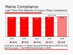 maine compliance lost time first reports of injury filing compliance