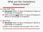 what are the compliance measurements1
