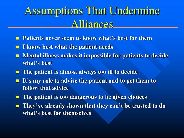 Assumptions That Undermine Alliances