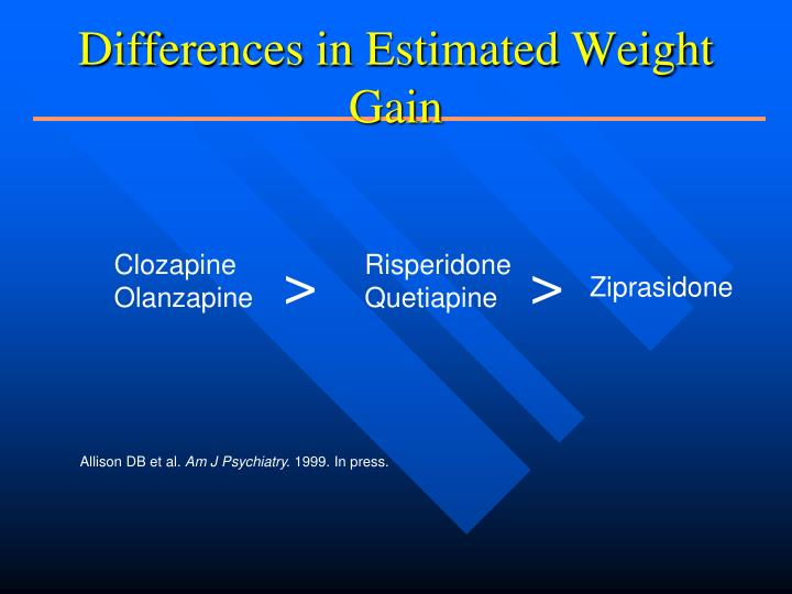 Differences in Estimated Weight Gain