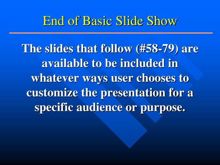 End of Basic Slide Show
