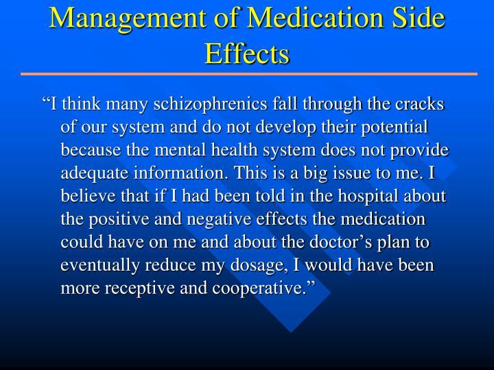 Management of Medication Side Effects