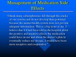 management of medication side effects1