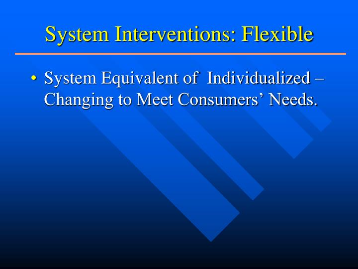System Interventions: Flexible