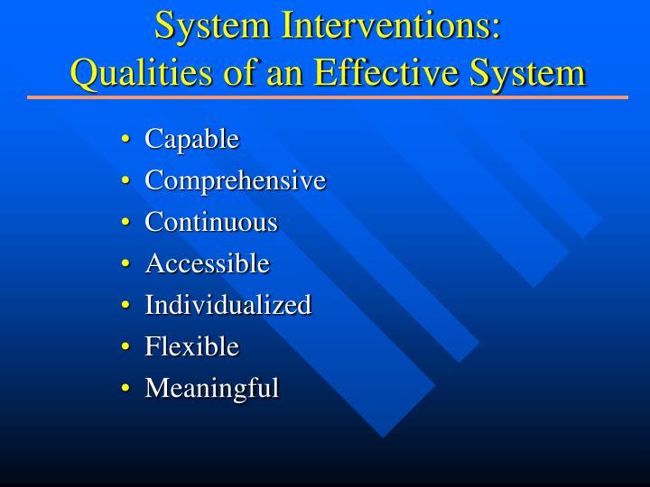 System Interventions:
