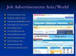 job advertisements asia world