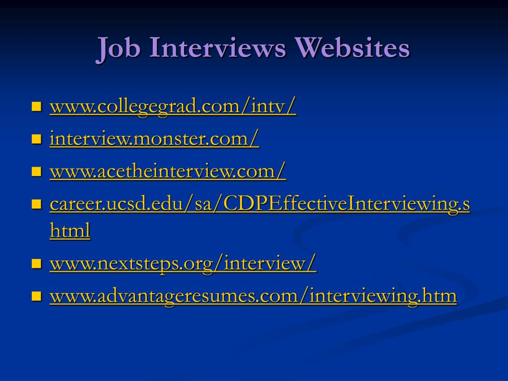 Job Interviews Websites