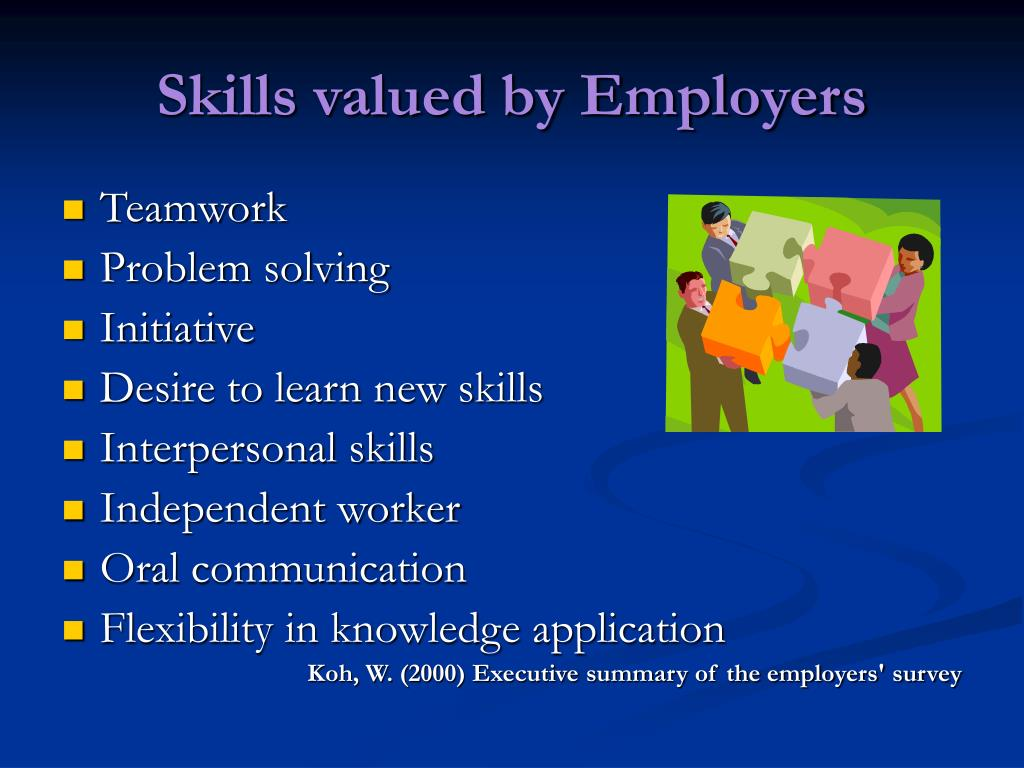 Skills valued by Employers