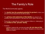 the family s role