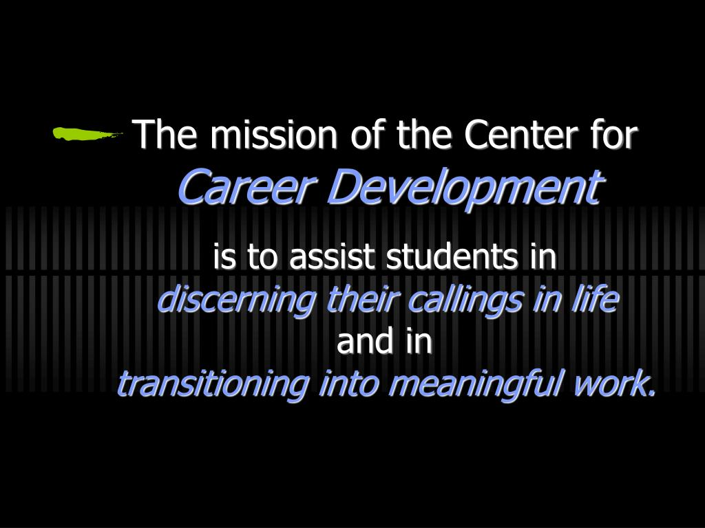 The mission of the Center for