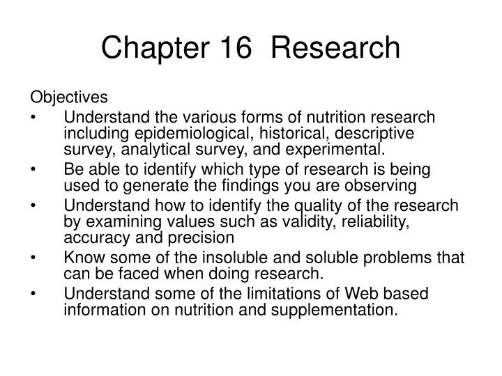 chapter 16 research n.