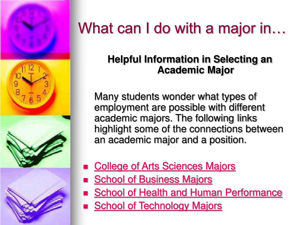 What can I do with a major in…